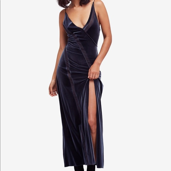 30e60bb5323002 Free People Dresses | Charcoal Intimately Velvet Maxi Dress | Poshmark